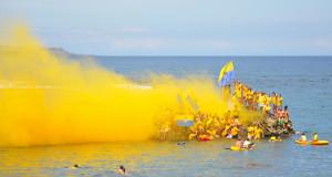 Fans UD Las Palmas - Fiesta Playa de las Canteras