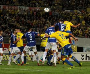 Derbi Canario - Gol de Vicente Gómez (Foto: udlaspalmas.net)